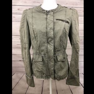 Free People Utility Military Jacket Army Green